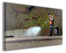 Quadri famosi Banksy XI stampe riproduzioni su tela copia falso d'autore