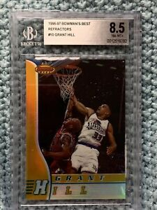 1996-97 Bowman's Best #10 Grant Hill REFRACTORS Detroit Pistons BGS 8.5 Mint