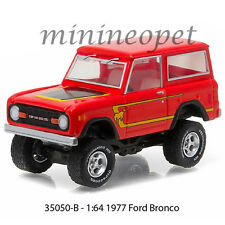 GREENLIGHT 35050 B ALL TERRAIN 4 OFF ROAD 1977 77 FORD BRONCO 1/64 DIECAST RED