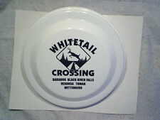 "WHITETAIL DEER CROSSING FRISBEE Norwood,buck,baraboo,tomah,wittenberg,wi 9 1/4"""