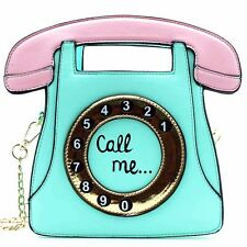 "NEW 7 LUXE Aqua ""HELLO CALL ME"" Crossbody Handbag - SALE"