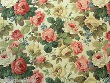 Sanderson Curtain Fabric CHELSEA 0.5m White/Pink Classic Floral Linen 50cm