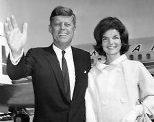 President JOHN F KENNEDY JFK & First Lady JACKIE Glossy 8x10 Photo Print Poster