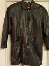 Authentic Pelle Cuir Women's Leather Coat Jacket Insulated Removable Lining Sz S