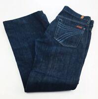 7 For All Mankind Womens Dojo Flare Leg Jeans Size 27 (Hemmed) Dark Wash