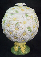 Vintage Poppytrail Metlox Vernon Sculptured DAISY Cookie Jar & Lid Topiary