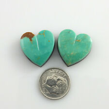 Natural Heart Shaped Green Nevada Turquoise gemstones stones polished cabochons
