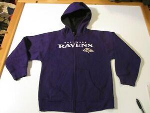 BALTIMORE RAVENS FOOTBALL NFL TEAM APPAREL ZIP HOODED SWEATSHIRT- CHILD LG (7)