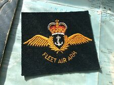 ROYAL NAVY NAVAL CLOTH WINGS BADGE FLEET AIR ARM TO GO ON JACKET BLAZER DISPLAY