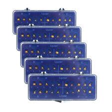 5Box Orthodontic Metal Bracket Dental 022 Mini MBT 3,4,5Hooks 24K Gold Plated UK