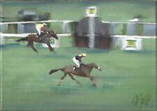 REDRUM, Grand National, Horse Racing, Oil Painting, Original Art, Horses, Racing