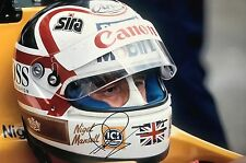 Nigel Mansell Hand Signed Canon Williams Renault 18x12 Photo F1 1.