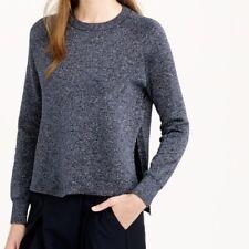 J. Crew Metallic navy blue, black tags women's sweater S Small Free ship