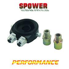Universal Black AN8 Oil Cooler Filter Sandwich Adapter Plate M20X1.5 3/4-16UNF