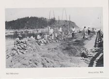 "*Postcard-""Net Mending"" ...w/Crew Working Hard at it- *Anacortes Wa. (#200)"
