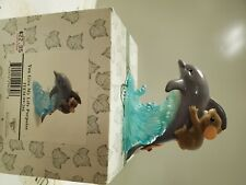 New Listingcharming tails mouse on dolphin figurine