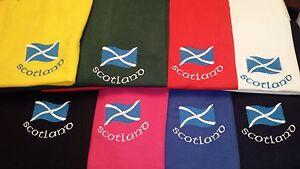 SALTIRE DESIGN EMBROIDERED ONTO A POLO SHIRT SCOTLAND SCOTTISH SCOTS