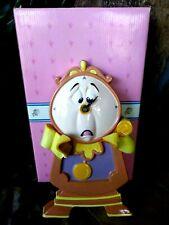Cogsworth Clock Hand Glazed Schmid Ceramic Porcelain Disney Figurine, New,Broken