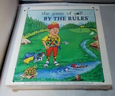 NEW 1989 THE GAME OF GOLF BY THE RULES Board Game