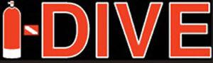 """Scuba Diving Bumper Sticker Decal I-Dive DS20E BK/RD 4"""""""