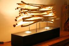 60cm XL madera de combustible Lámpara pie viejo roble mesa, Casa Campo