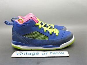 Girls Nike Air Jordan Flight 9.5 Deep Royal Hyper Pink GP 2014 sz 1.5Y