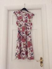 b595a0e9be02 Oasis Floral Dress Size 10 Butterfly And Floral Print