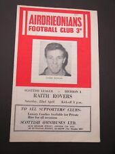 Airdrieonians V Raith  1960/1