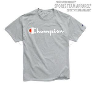 Champion T-Shirt Men's Jersey Tee Classic Fit Script Logo