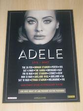 ADELE - 2017  Australian Tour Poster - READY TO FRAME  - Laminated Poster