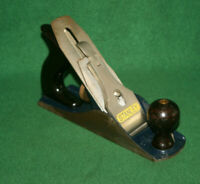 Great User Vintage Stanley Bailey No 4 Type 20 Smooth Woodworking Plane Inv#JS01