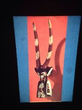 "Senufo ""Firespitter Helmet Mask"" Primitive African Tribal Art 35mm Vintage Slide"