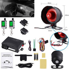 2 Way Car Auto Alarm Keyless Entry Lcd Remote Start Paging Security System Us