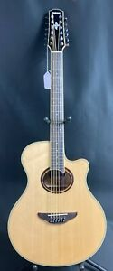 Yamaha APX700II-12 12 String Thinline Cutaway Acoustic-Electric Guitar Natural