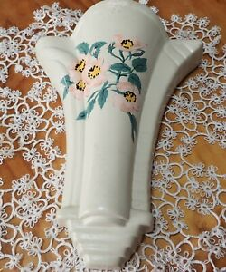 VINTAGE ART DECO CERAMIC WALL VASE-MARKED ADRIAN MADE IN ENGLAND 1930'S