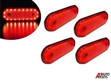4 pcs 12v Oval 20 Led Red Rear Side Outline Marker Lights Trailer Truck Lorry