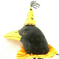 Bethany Lowe Halloween Raven Crow Parade On A Stick Paper Hat