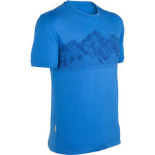 Mens New Icebreaker Tech T Lite Ss Shirt Alps Size Small Color Cadet