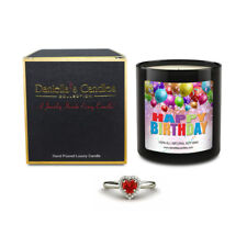 Happy Birthday Jewelry Surprise Candle by Daniella's Candles