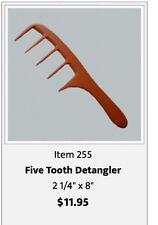 Prof. Detangler Hand Made Bone Comb  seamless comb by hairsense #255 hair comb