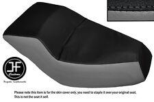 BLACK AND GREY AUTOMOTIVE VINYL CUSTOM FITS HONDA HELIX CN 250 DUAL SEAT COVER