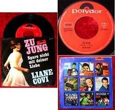 Single Liane Covi: Zu jung (Polydor 52 647) D 1966