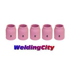 "WeldingCity 5-pk Ceramic Gas Lens Cup 53N61S #8 1/2"" TIG Welding Torch 9/20 USA"