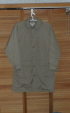 MENS L. L. BEAN WINTER COAT / JACKET -KHAKI COLOR-U.S.A.-WOOLBLEND LINED-SIZE L