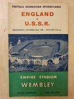 1958 ENGLAND v USSR - FRIENDLY INTERNATIONAL @ WEMBLEY 22nd October