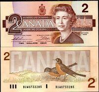 CANADA 2 DOLLARS 1986 P 94 b Thiessen-Crow UNC
