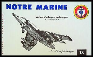 Buvard Publicitaire, NOTRE MARINE - Avion d'attaque embarqué - Etendard IV