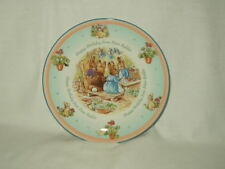 "PETER RABBIT 8"" Happy Birthday PLATE Wedgwood England dated 2001"
