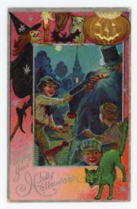 1910 Halloween postcard