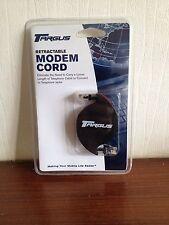 Targus Mini Retractable Modem Cord PA206E 2 Metres Brand New Free P&P